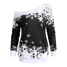 c31d8f6c763 The perfect YOcheerful Christmas Womens Pullover Off Shoulder Long Sleeve  Sweatshirt Blouse Christmas Clothing.   3.99 - 16.99  topoffergoods from  top store