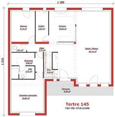 Aurelia Plan Maison Cubique Moderne Rdc Par Maisons BASTEA Maison - Plan maison 2 niveaux