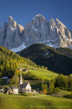 Santa Maddelena and the Dolomites, Trentino-Alto-Adige, Italy. © Brian Jannsen Photography