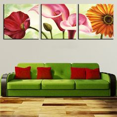 25 easy wall art three piece painting ideas