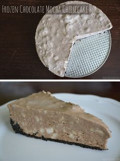Frozen Chocolate Mocha Cheesecake Recipe. Absolutely DELICIOUS Cheesecake. Get the delicious dessert recipe here.