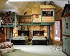 Cool Interior Kids Bedroom With The Tree House Style : Childrenu0027s Room With  False Tree House Picture