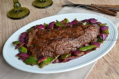 Fraldinha marinada | Receitas e Temperos Barbacoa, Brazilian Dishes, Menu, Dinner Plates, Great Recipes, Steak, Food Photography, Paleo, Pork