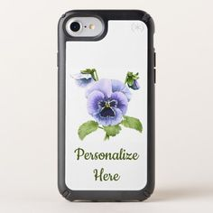 Purple Pansies Speck iPhone Case Custom Brandable Electronics Gifts for your buniness #electronics #logo #brand
