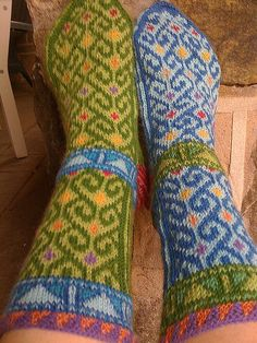 "Turkish Socks    From ""Knitting Stockings from Turkish Villages"" by Prof. Kenan Ozbel"