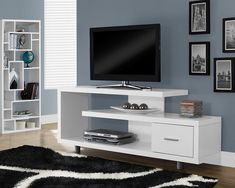 Looking for White Tv Console Modern Contemporary Laminate MDF Drawers ? Check out our picks for the White Tv Console Modern Contemporary Laminate MDF Drawers from the popular stores - all in one. Simple Tv Stand, 60 Tv Stand, Console Shelf, Tv Stand Console, Console Tables, Wall Mount Entertainment Center, Entertainment Stand, Entertainment Furniture, White Tv Stands