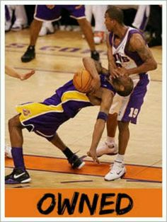 Foul? I don't see a foul....maybe Kobe was trash talking....