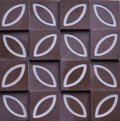 Brogliato Revestimentos - Coleções - Print - Flower Brown - 30x30 cm