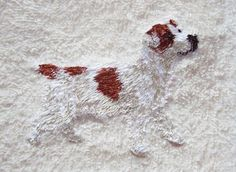 Jack Russell Terrier Paw Towel Pet Terry Dog Hand Towel
