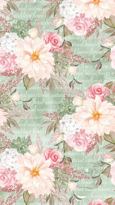 Flowery Wallpaper, Flower Background Wallpaper, Flower Backgrounds, Pattern Wallpaper, Wallpaper Backgrounds, Decoupage Printables, Printable Scrapbook Paper, Decoupage Vintage, Decoupage Paper