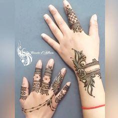 Wedding Henna Designs, Finger Henna Designs, Mehndi Designs For Girls, Tatoo Designs, Henna Designs Easy, Beautiful Henna Designs, Best Mehndi Designs, Arabic Mehndi Designs, Mehandi Henna