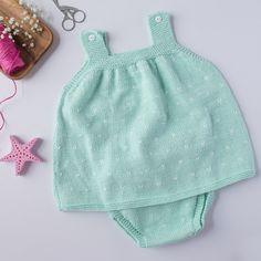 Conjunto bebé con topitos - Lanas Rubí | Lanas Rubí