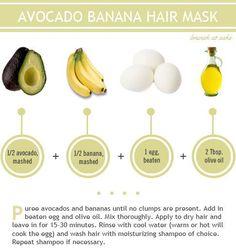 Avocado and Banana Hair Mask for Healthy and Shiny Hair