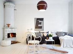 my scandinavian home: Swedish home in white. grey and brown