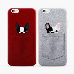 Cute Cartoon Pokect Dog TPU Silicone Case for iphone 7 6 6s SE 5 5s Cell Phone Back Cover For iphone 6 6s 7 Plus Protector Skin