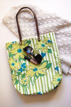 Travel Her Tote Bag Green Weekender Tote Purse Vintage