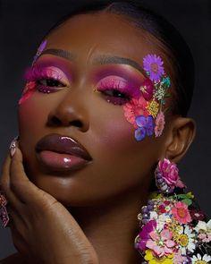Flawless Makeup, Skin Makeup, Eyeshadow Makeup, Beauty Makeup, Makeup Inspo, Makeup Inspiration, Cute Makeup, Makeup Looks, Black Makeup Artist