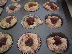 Gluten Free A-Z : Peanut Butter and Strawberry Jelly Muffins