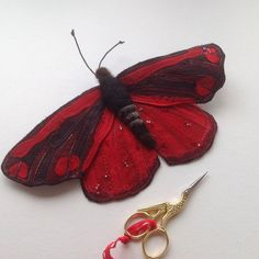 I've just listed this beauty, a real statement piece for your interior. I  love these moth, which are in fact quite tiny but this one is 24cm to make the most of his gorgeous patterns.