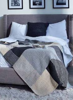 FREE Essential Stripes Knit Blanket -  Download at LoveKnitting