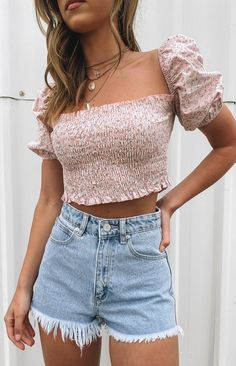 Trendy Summer Outfits, Summer Fashion Outfits, Cute Casual Outfits, Pretty Outfits, Stylish Outfits, Summer Clothes For Teens, Fashion For Teens, Spring Break Clothes, Cute Summer Outfits For Teens
