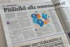 Yrittäjäsanomat 4/2014: Pitäisikö olla somessa vai ei #haastattelu #some #somefi #sosiaalinenmedia