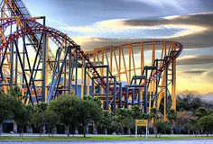 Six Flags Magic Mountain in California. It's supposedly even better than Cedar Point in Ohio.