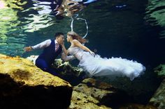 Trash the dress wedding photo