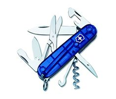 Victorinox Swiss Army Climber Pocket Knife (Sapphire) -- See this great product.