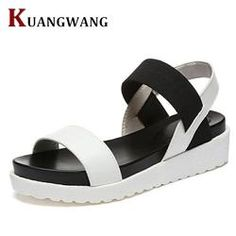 Summer Sandals For Women New Shoes Peep-toe Sandalias Flat Shoes Roman Sandals  Shoes Woman 61fba634d703