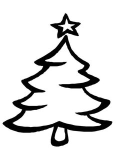 Trendy Tree Plan Drawing Coloring Pages Christmas Tree Drawing Images, Christmas Tree Outline, Christmas Tree Coloring Page, Printable Christmas Coloring Pages, Free Christmas Printables, Free Printable Coloring Pages, Christmas Pictures, Christmas Tree With Presents, Cool Christmas Trees