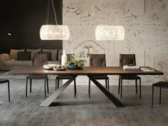 Tavolo rettangolare in legno ELIOT WOOD by Cattelan Italia design Giorgio Cattelan