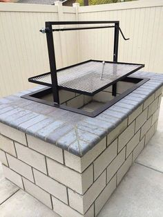 Items similar to Santa Maria Countertop Drop In Frame Wood Charcoal Grill Pit by JD Fabrications BBQ on Etsy Wood Charcoal, Charcoal Grill, Santa Maria Bbq, Parrilla Exterior, Brick Bbq, Outdoor Oven, Outdoor Fire, Outdoor Cooking Area, Outdoor Kitchen Countertops