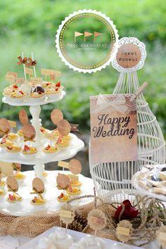 Outdoor Vintage Wedding via Kara's Party Ideas