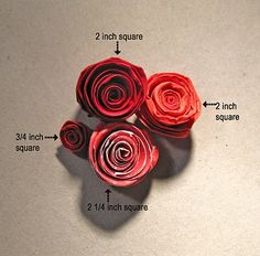 Follow Your Heart....: Flower Power with a Paper Rose Tutorial