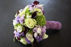 Pretty #purple #wedding #bouquet