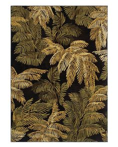 """Area Rug in the Tommy Bahama Home Collection in style """"Archival Fern"""" color Blac. - Area Rug in the Tommy Bahama Home Collection in style """"Archival Fern"""" color Black - By Shaw Floors Motif Art Deco, Art Deco Pattern, Art Nouveau Design, Palm Leaf Wallpaper, Wall Wallpaper, Textures Patterns, Print Patterns, Pattern Designs, Tropical Pattern"""
