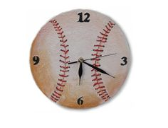 Unique Baseball Wall Clock Wooden Clock Handmade Toddler Room Decor Home Decor…