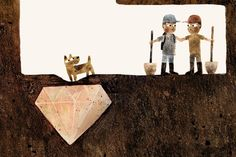 From Sam and Dave Dig a Hole by Mac Barnett, with illustrations by Jon Klassen. Candlewick Press