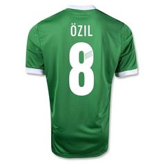 Discount Thailand Quality 2012 Euro Cup Germany Ozil 8 Away 2012 soccer  kits d1a66fa04