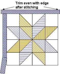 Big Star Quilt - Free Pattern - Handcrafting With Love Quilt Blocks Easy, Big Block Quilts, Lap Quilts, Small Quilts, Beginner Quilt Patterns, Star Quilt Patterns, Quilt Tutorials, Half Square Triangle Quilts Pattern, Quilting Projects