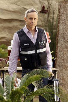 CSI: Crime Scene Investigation Photos: Lets Get to Work in Fearless Episode 20 in Season 13 on CBS.com.  David Hodges (Wallace Langham) arrives with his briefcase ready to examine potential evidence.  May 1, 2013 episode.