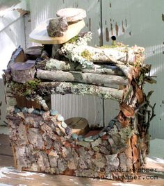 Twig Woodland Fairy House Handcrafted One of a by BetweenTheWeeds