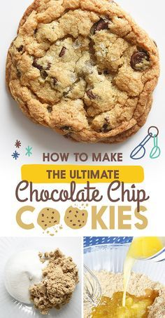 """How To Make The Best Chocolate Chip Cookies Ever. according to the """"which CCC quiz"""" i am this"""