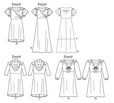 Line Drawing of Butterick 5794 Misses and Women's Dress - I have this pattern