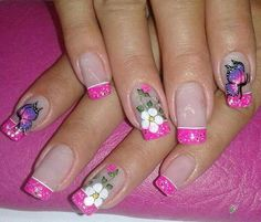 Flower Nails, Flowers, Beauty, Animal, Youtube, Hair, Perfect Nails, Nail Decorations, Nailed It