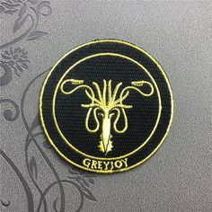 Game of Thrones Patches Greyjoy Patch Iron on patch Sew on Patch Hat Patches Punk patches