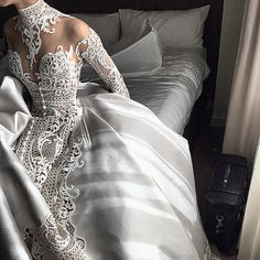 Couture bridal by ❤️ Dream Wedding Dresses, Bridal Dresses, Wedding Gowns, Wedding Lace, J Aton Couture, Couture Bridal, Dress Vestidos, Bride Look, Beautiful Gowns