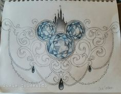 Disney sternum tattoo design that I drew. I will one day get this.
