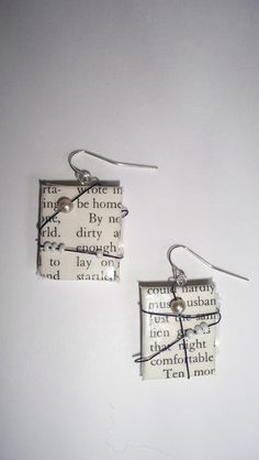 Great book related craft. I so love these book page crafts!